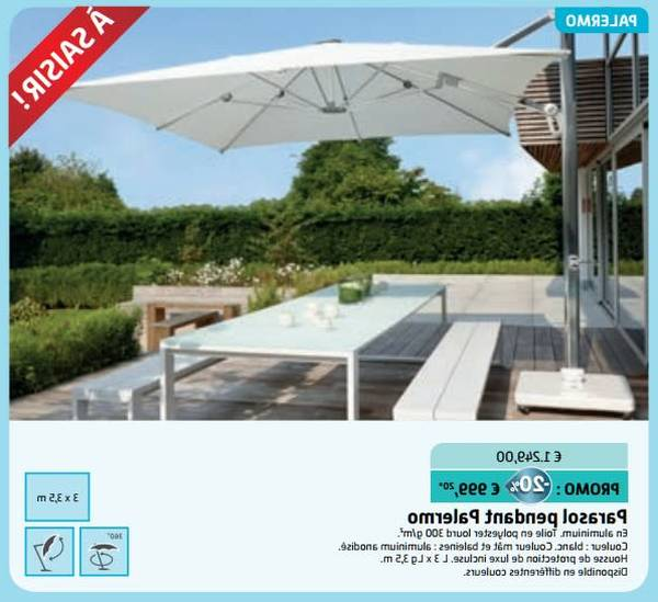 Parasol Deporte Inclinable Aluminium